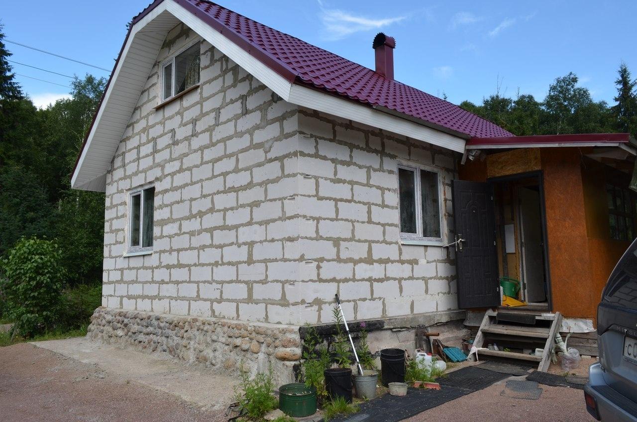 построить маленький домик недорого из пеноблоков