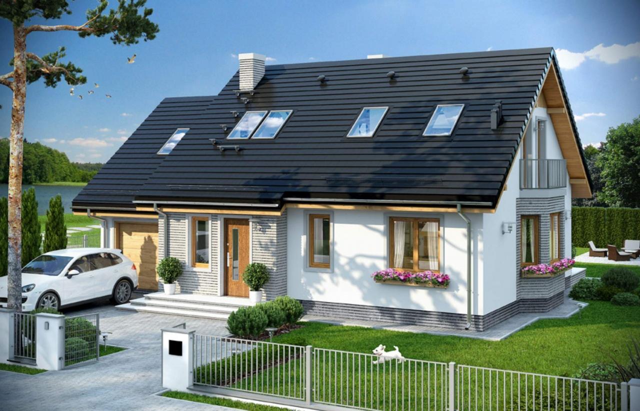 варианты мансардных крыш частных домов фото